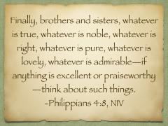 Philippians 4.8, NIV