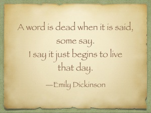 A word is said emily dickinson